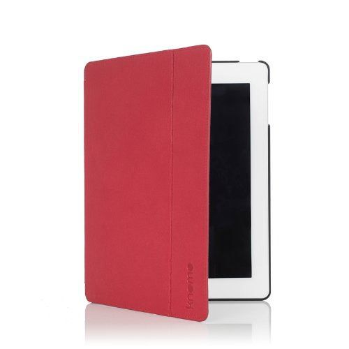 HOUSSE TABLETTE TACTILE Etui Folio Apple iPad 2/3/4 Knomo Cuir Rouge