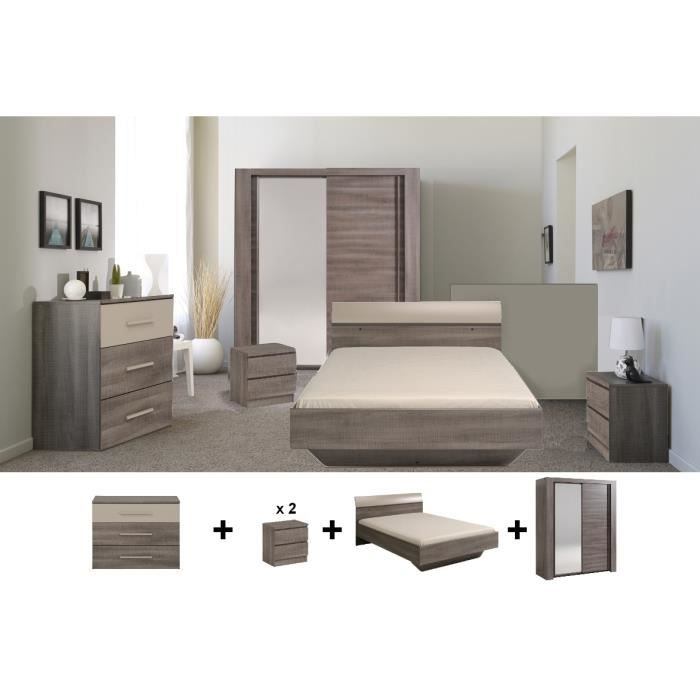 Chambre compl te alicia achat vente lit complet for Achat chambre complete