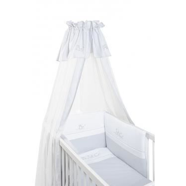 voile de lit et berceau abc gris blanc en coton achat vente ciel de lit b b 2009966961620. Black Bedroom Furniture Sets. Home Design Ideas
