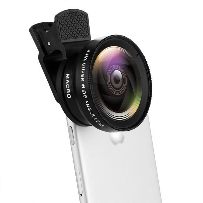 CPL Kit Objectif Smartphone 7 en 1 Lentille de Cam/éra T/él/éphone Portable Clip-on Fisheye Macro 15X Grand Angle Lentille super large pour iPhone Samsung Huawei Zoom T/él/éobjectif Kal/éidoscope