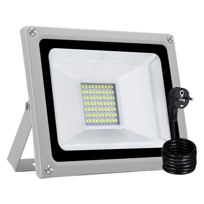 20 W COB DEL Projecteur Détecteur de Mouvement Lumière Lampe d/'extérieur Spotlight