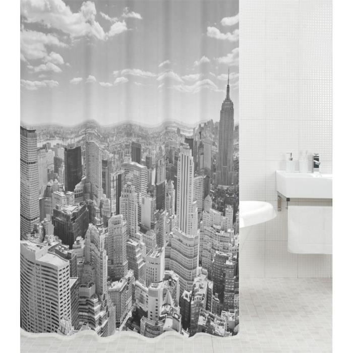 New york 180x180 cm salle de bain baignoire Rideau de douche