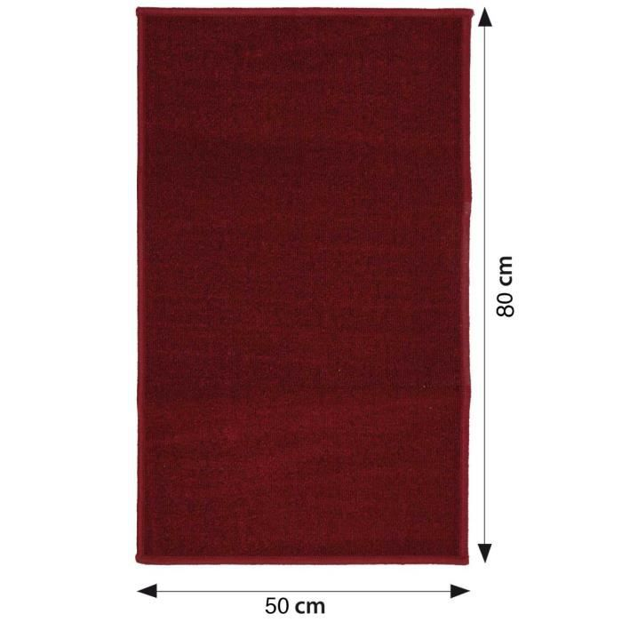 tapis uni rouge achat vente tapis cdiscount. Black Bedroom Furniture Sets. Home Design Ideas