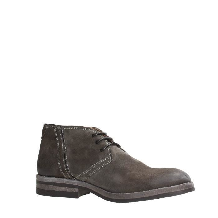 Wrangler Desert Boot Homme Dark Brown Dark grey