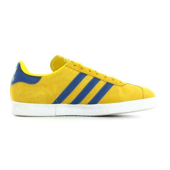 Adidas Gazelle 2 Jaune moutarde, blanc et bleu Achat
