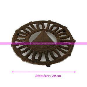 DESSOUS DE PLAT  Dessous de plat en fonte brun foncé Thème Voilier