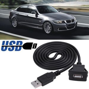 CÂBLE TÉLÉPHONE 1m - 3ft voiture Dash Board Mount USB 2.0 mâle à f