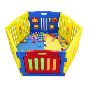 PARC BÉBÉ MCC Parc pour bébés à 6 côtés avec panneau d'activ