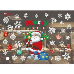 STICKERS DE NOËL Noël Salon de Noël Père Noël Bonhomme de neige Elk