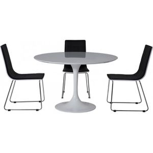 Table pied central achat vente table pied central pas - Table ronde 6 personnes pied central ...