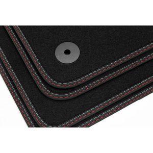 PEUGEOT 108 2014 sur Coupe Ajustée Tapis Sol Voiture Noir Tapis Avec Bordure Noire