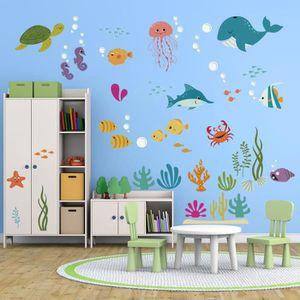 STICKERS decalmile sous la Mer Stickers Muraux Enfant Anima