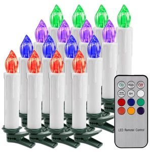 DÉCORATION LUMINEUSE ANG  Guirlande Lumineuse de Noël 10 Bougies LED Bl
