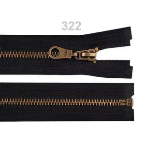 """1 x 8/""""//20 cm Jeans Zip-Laiton Dents Marine de couleur bleu"""