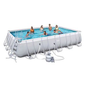 PISCINE BESTWAY Kit Piscine tubulaire rectangulaire Power