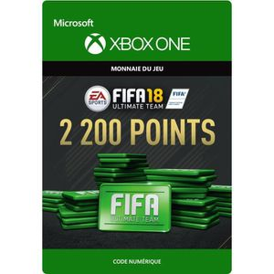 EXTENSION - CODE FIFA 18 Ultimate Team: 2200 Points pour Xbox One