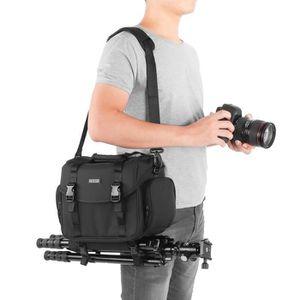 Sac Appareil Photo Reflex CADeN Toile Vintage Photographie Sacoche /à Bandouli/ère Housse /Étanche pour 1 DSLR SLR Cam/éra Canon Nikon Sony Pentax 3 Objectif Tr/épied(Arm/ée Verte)