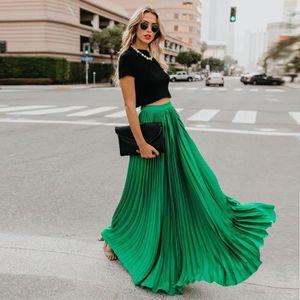 JUPE Femmes Mode taille haute Fold Soild Vintage en vra