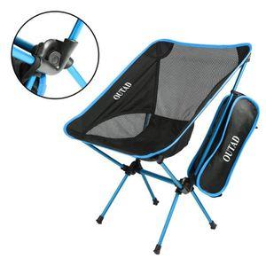 FAUTEUIL JARDIN  Chaise Extérieur Pliante Pour Camping Pêche - Bleu