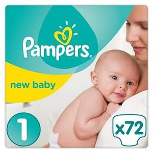 COUCHE PAMPERS New Baby - Taille 1 - 2 à 5Kg - 72 couches