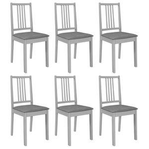TABLE DE CUISINE  vidaXL 6 pcs Chaise de salle à manger avec coussin