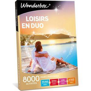 COFFRET THÉMATIQUE Wonderbox - Box cadeau - Loisirs en duo - 7000 act