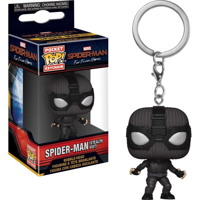 Porte-clés Funko Pocket Pop! Spider-Man: Far From Home - Spider-Man (Stealth Suit)