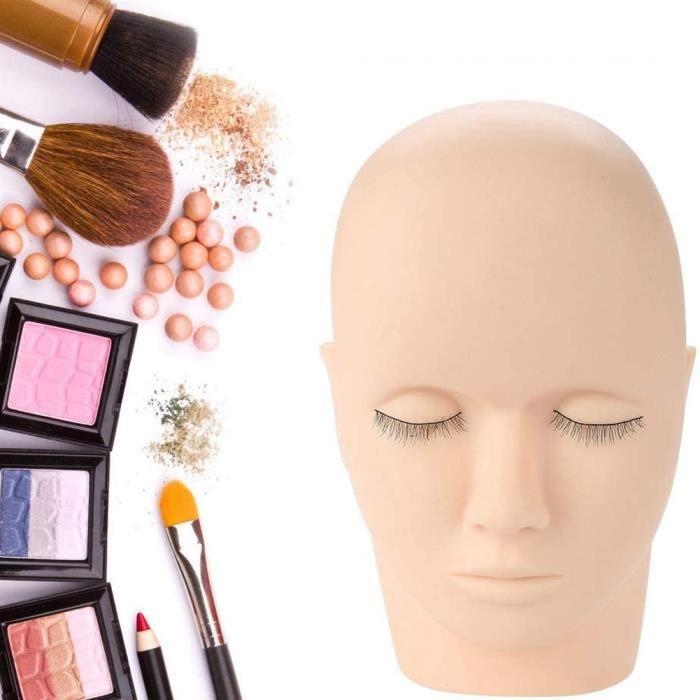 Formation de pratique de Massage de maquillage de greffe de cils en caoutchouc souple faux mannequin de forme de tête HB032 -YEA