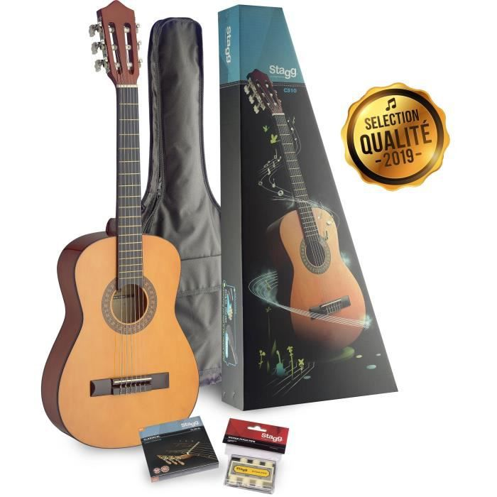 STAGG Pack Guitare Classique C510 PACK 3-6 Ans Naturel
