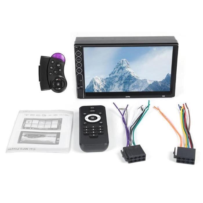 SWM N6 universel 2 din voiture lecteur multimédia Bluetooth Autoradio 2din stéréo 7- écran tactile vidéo - Type With 2 Remote