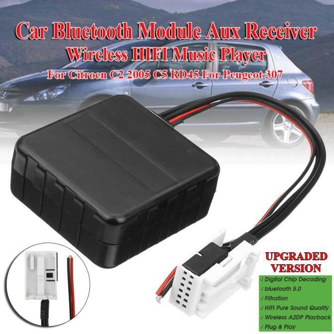 Voiture Bluetooth Module Aux Récepteur Câble sans fil Hi-fi Lecteur de musique pour Citroen C2 2005 C5 RD45 Pour Peugeot 307 Media R
