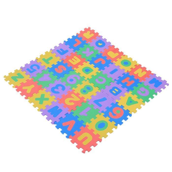 36 pièces tapis de sol en mousse imbriquée bébé mousse EVA douce enfants tapis de jeu Alphabet et chiffres tapis de jeu de