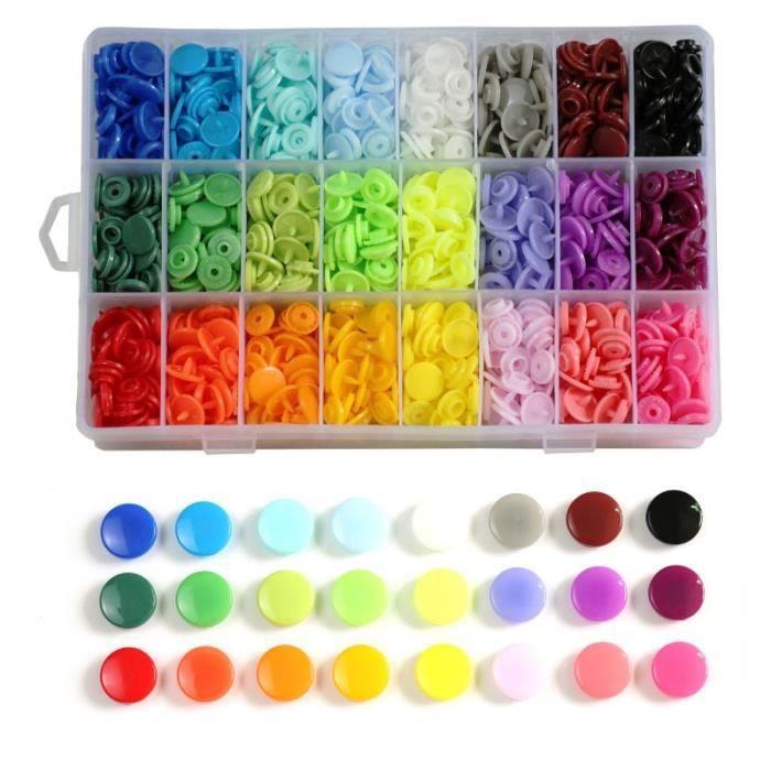 Fermeture Boutons,T5 boutons en plastique avec boutons pression ensemble de pinces pour vêtements couture, bavoirs, - Type B360Pcs
