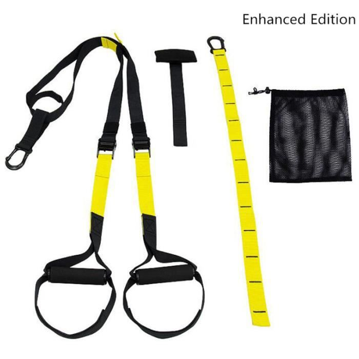 Sangle De Suspension Kit d' Entraînement De Résistance Réglable Avec Ancre De Porte, Sac De Transport, Sangle d'attache