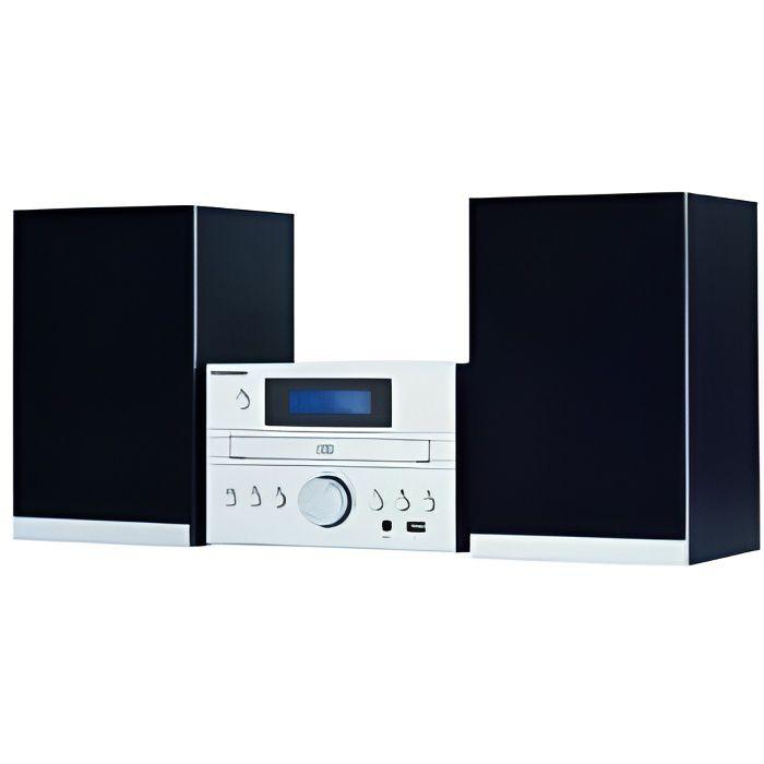 THOMSON MIC122DABBT - Micro-chaîne CD/MP3/USB/DAB+ - Bluetooth - Tuner numérique FM - 30 stations - Egaliseur
