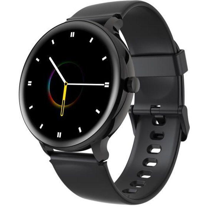 Blackview X2 Montre Connectée Femme Homme Smartwatch Fitness Tracker Montre Intelligente IP68 Étanche 9 Modes Sportifs - Noir