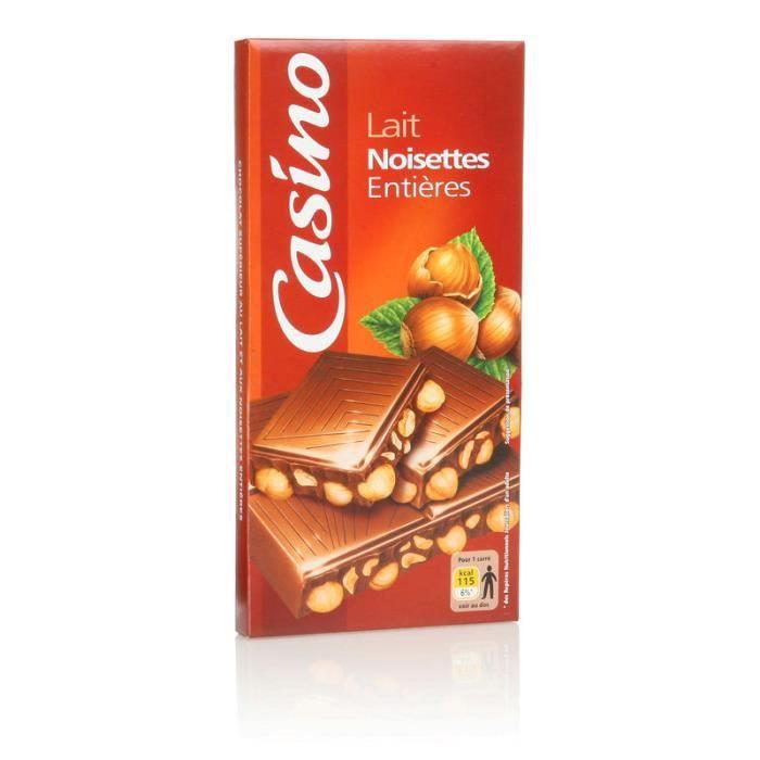 Chocolat au lait et aux Noisettes entières - 200 g