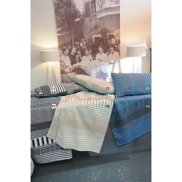 C2. Enveloppe de coussin 40 x 80 cm avec motifs variés - naturel