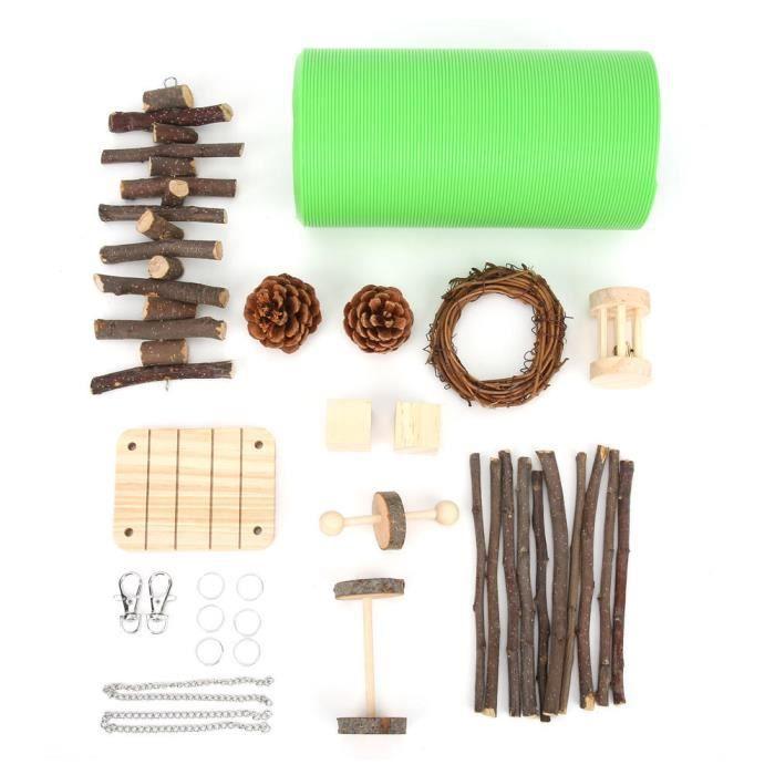 HURRISE Jouets de tunnel de hamster Ensemble de 12 jouets pour tunnel de hamster, tunnel flexible pour petits animaux et jouets