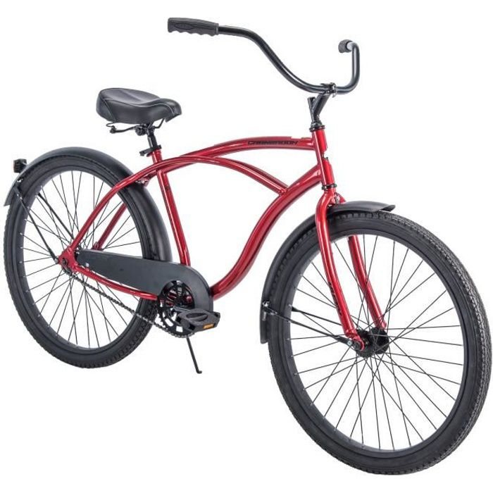 26- Cranbrook Beach Cruiser Comfort Bike for Men, Red 1X14YJ Taille-M