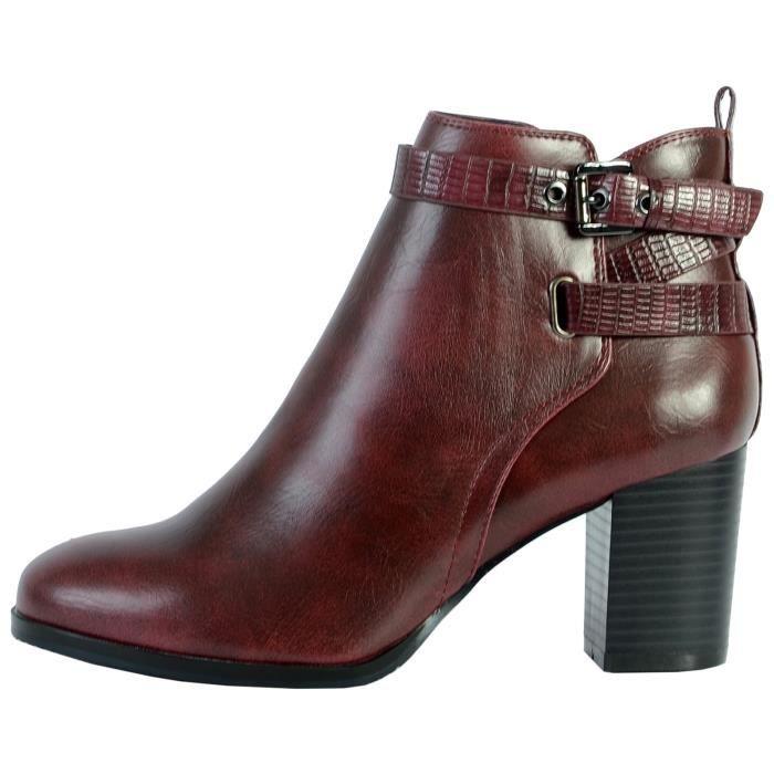 Boots The Divine Factory QL4032 Bordeaux Femme