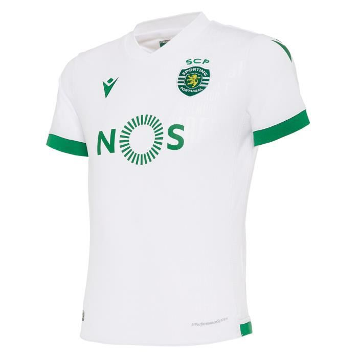 Maillot enfant third Sporting Portugal 2020/21 - blanc/vert - 8/9 ans
