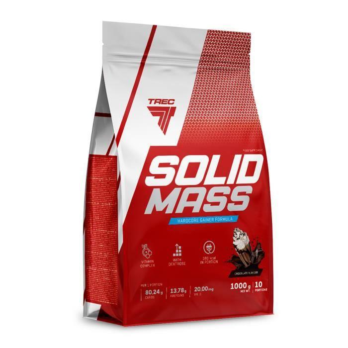 Solid Mass 1000 g VANILLE Formule Hardcore Gainer Proteines Glucides Vitamines