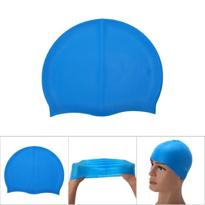 VINGVO bonnet de bain en silicone Adulte enfant unisexe élastique silicone maillot de bain bonnet de bain bonnet de bain