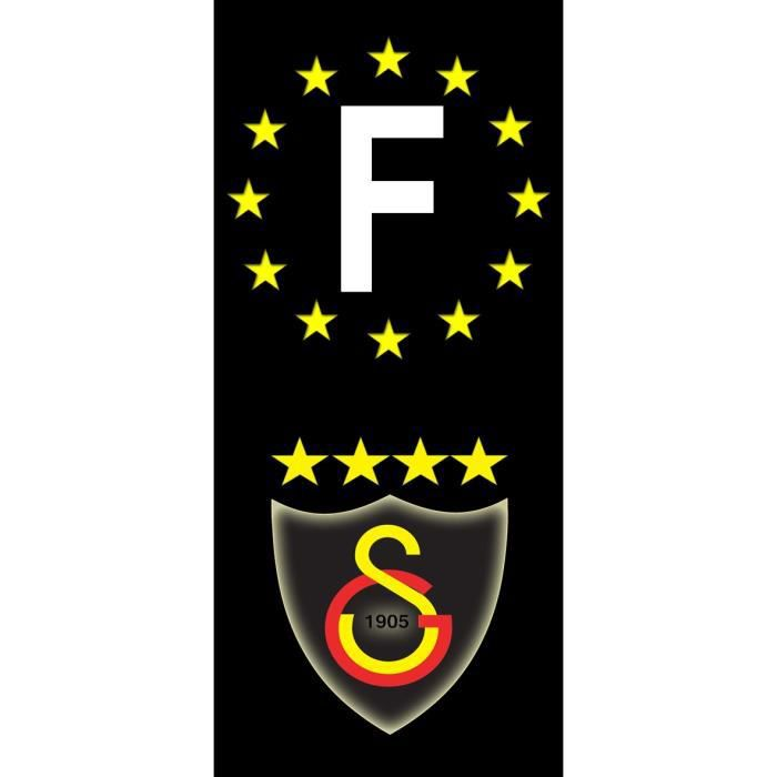 "Stickers Plaque d/'immatriculation /""Galatasaray/"" Auto-moto Fond Noir"