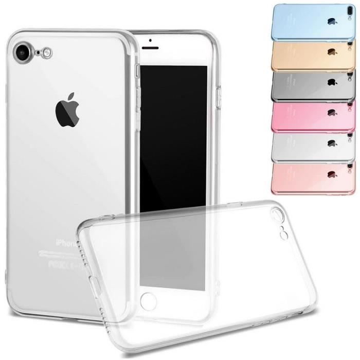 Coque housse etui iphone 7 blanc silicone achat for Housse silicone iphone 7