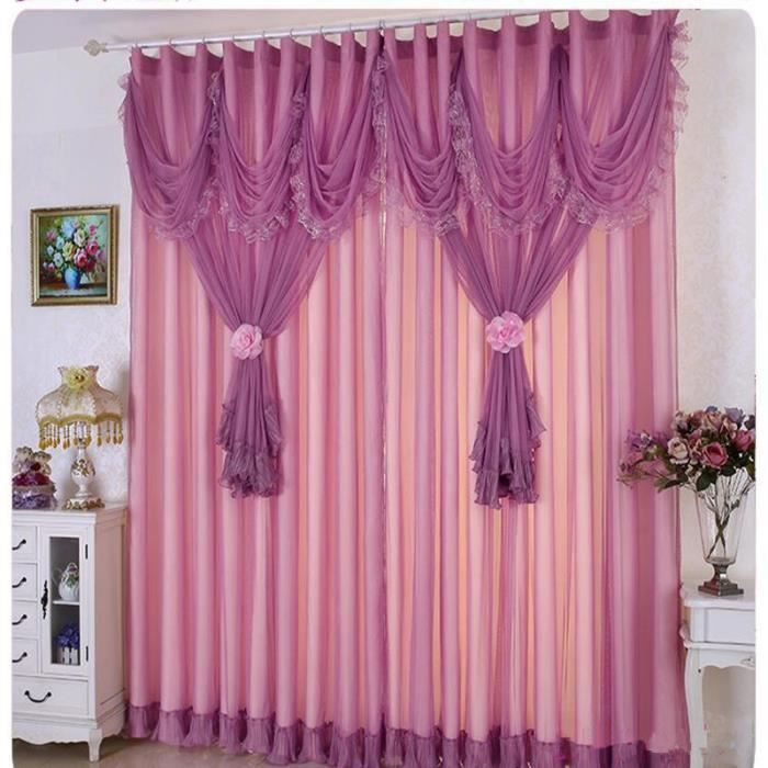 largeur 1m haut rideaux fen tre de dentelle pour le salon window screening rideau tulle. Black Bedroom Furniture Sets. Home Design Ideas