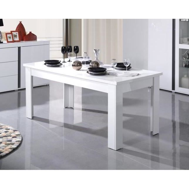 Table Extensible Pour Salle A Manger Avignon Blanche Laquee