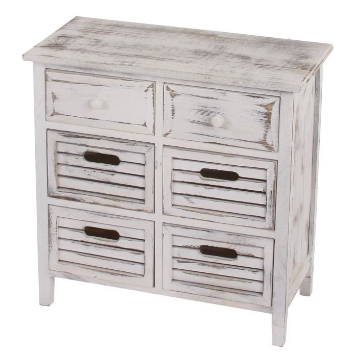 commode 60x60x30cm chic et vintage blanc achat vente commode de chambre commode 60x60x30cm. Black Bedroom Furniture Sets. Home Design Ideas