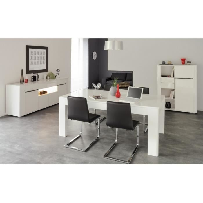 Ensemble s jour contemporain blanc white achat vente for Ensemble salon blanc